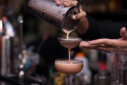 pouring espresso martini